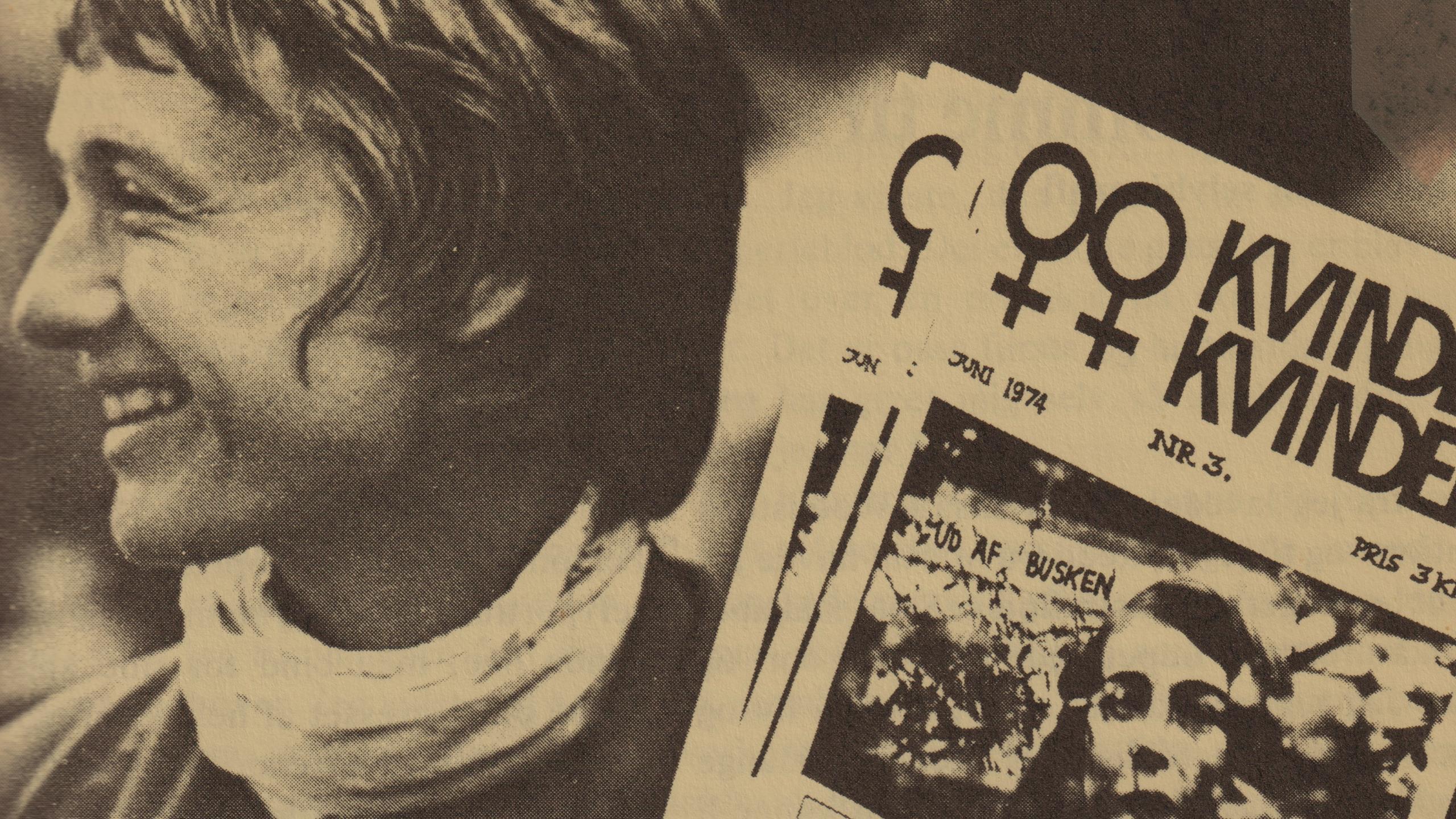 Arkivbillede af kvinde med magasin.